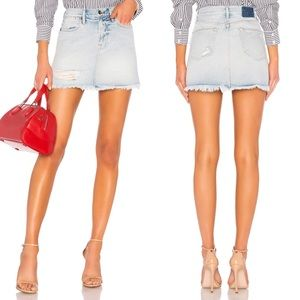 FRAME DENIM Rigid Re Release Le High Mini Skirt